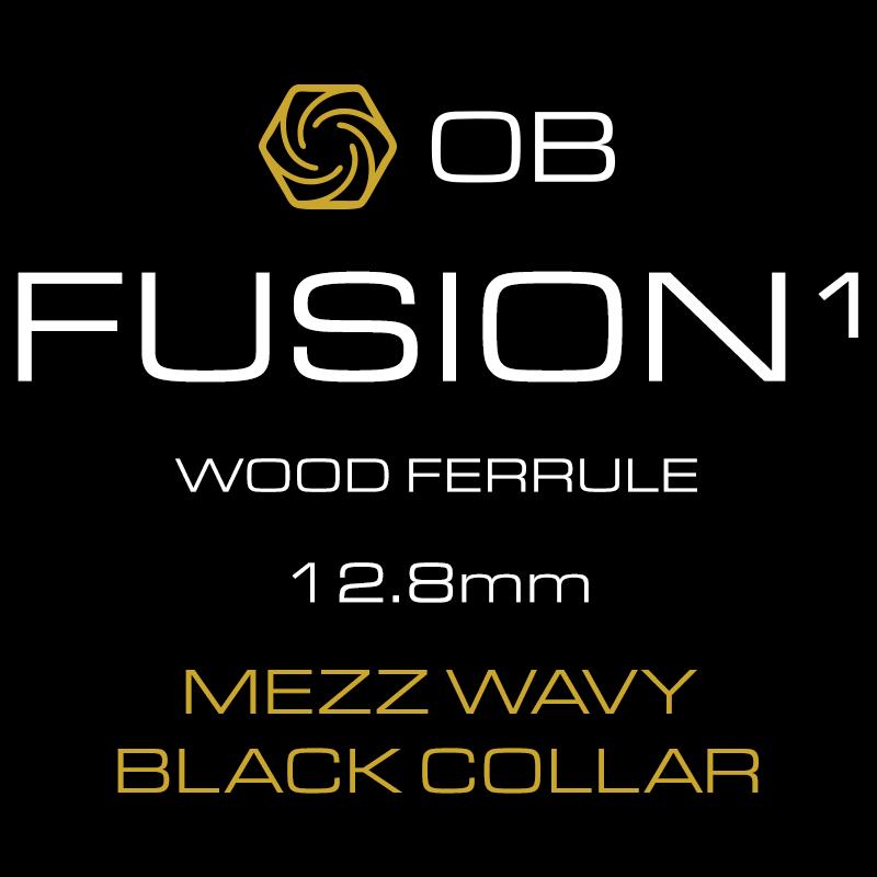 OB FUSION-1 Mezz Wavy Joint Black Collar 12 8mm